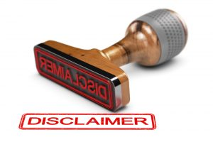 Picture of a disclaimer stamp - links to the website disclaimer page